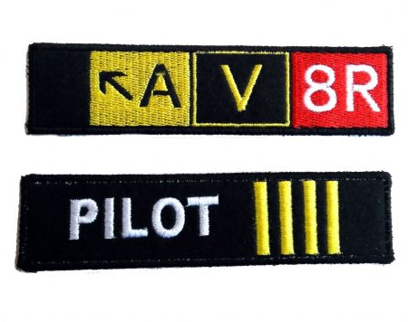 Pilot embroidery keychain (9)