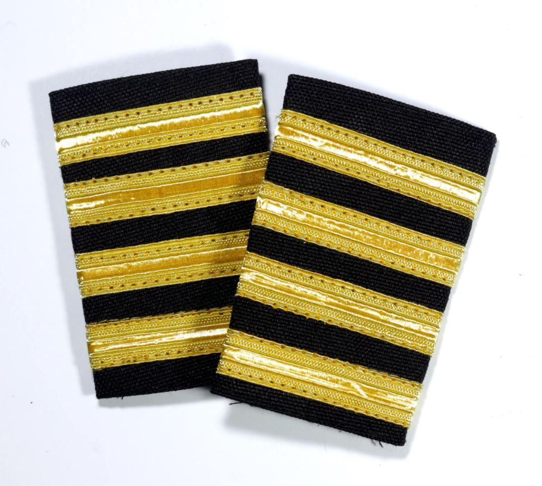 456f68f5d6b 4 Bar premium gold epaulets for pilot captains   instructors-with velcro
