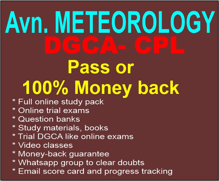 CPL Aviation meteorology pack for DGCA pilot trainees
