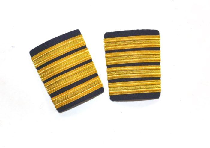 9d3664acf43 4 Stripe gold Hard black-epaulets for pilots