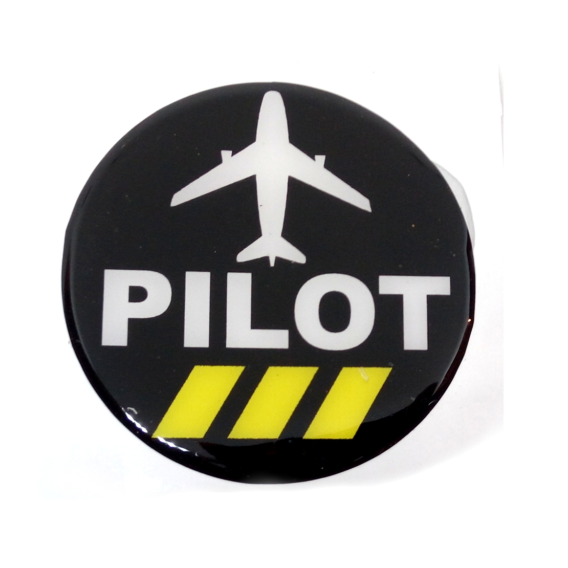Pilot black 3 round 3 5 inch 3d flexible scratch proof car sticker for  pilots and aviation people (set of 2)
